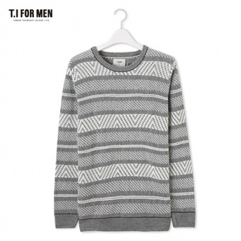 [TI FOR MEN] 티아이포맨 패턴 스웨터 M176MSW410M1GY5