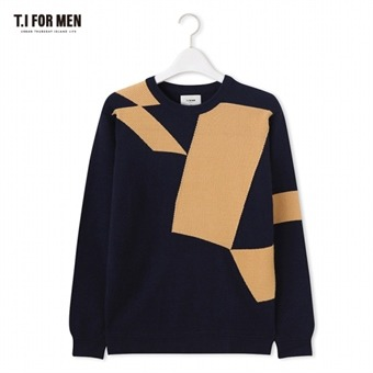 [TI FOR MEN] 티아이포맨 패턴 스웨터 M176MSW702M1NV5