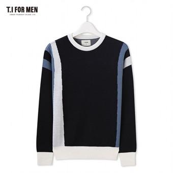 [TI FOR MEN] 티아이포맨 패턴 스웨터 M176MSW803M1NV2