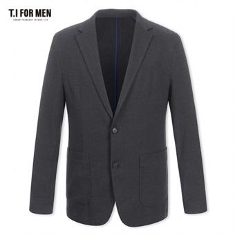 [TI FOR MEN] 티아이포맨 폴리혼방 투버튼 자켓 M176MJK702M1GY2