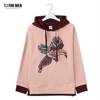 [TI FOR MEN] 티아이포맨 자수 후드 티셔츠 M176MTS425M1PK2
