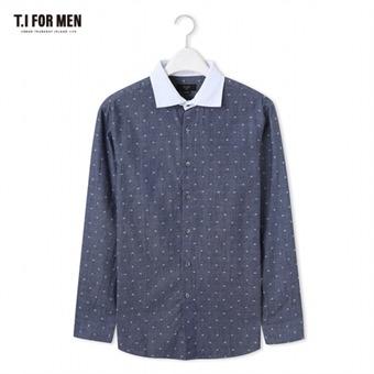 [TI FOR MEN] 티아이포맨 패턴 긴팔셔츠 M176MSH420M1NV5