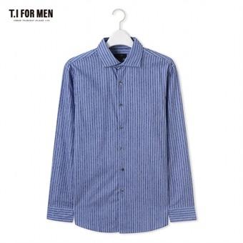 [TI FOR MEN] 티아이포맨 스트라이프 긴팔셔츠 M176MSH414M1BL5