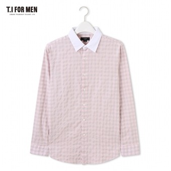 [TI FOR MEN] 티아이포맨 체크 긴팔셔츠 M176MSH409M1PK5