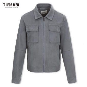 [TI FOR MEN] 티아이포맨 폴리 집업 점퍼 M176MJP308M1GY2