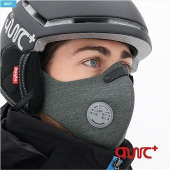 퀵플러스 스키 스노우보드 방한 마스크 필터 교체형 SM-02(펀칭)