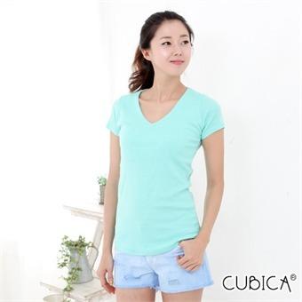 [쿠비카]밑가시 브이넥 반팔 티셔츠 CAT-IM110