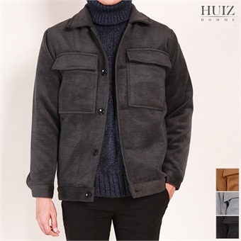 HF 포켓 모직 자켓 코트 JK012