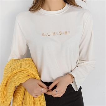 [컨택유] 레터링 베이직 티셔츠 #106705