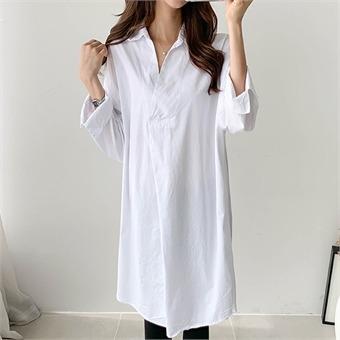 [피핀] 베이직 롱 셔츠 #37297