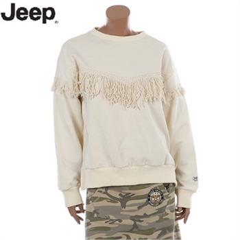 [JEEP]지프 맨투맨 여성 수술장식 맨투맨 티셔츠(JI2TSF822)