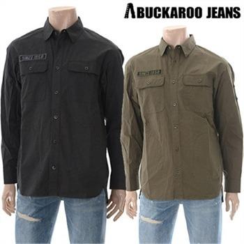 [버커루] 남여공용 코튼 와펜장식 빈티지 셔츠(B175SH010P)