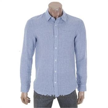 [앤듀]O172SH410P 남성)기본카라 패턴 린넨셔츠