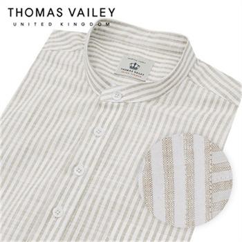 [THOMAS VAILEY] 토마스 베일리 린넨라이크 스트라이프 헨리넥 셔츠 베이지 1THTHA5MSU133