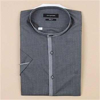 [루이까또즈셔츠] 남성 반소매 슬림핏 셔츠 Q70043(그레이)