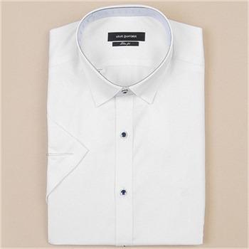 [루이까또즈셔츠] 남성 반소매 슬림핏 셔츠 Q70021(화이트)