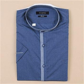 [루이까또즈셔츠] 남성 반소매 슬림핏 셔츠 Q7004C(네이비)