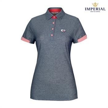 [임페리얼] 여성 여름용 데님느낌 면혼방 티셔츠 (P0X