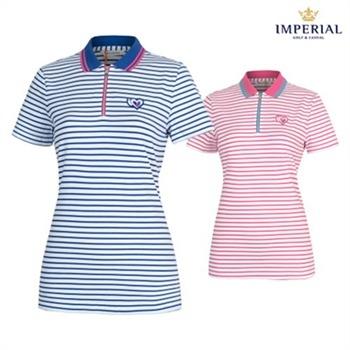 [임페리얼] 여성 여름용 스트라이프 티셔츠 (P0X1229)