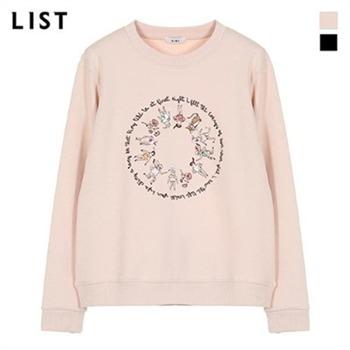 [리스트] 자수 코튼 스웨트 티셔츠TSJTSJ50050