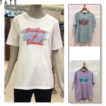 [테이트]여성 레터링 반팔 티셔츠(KA9U4-WKS090)