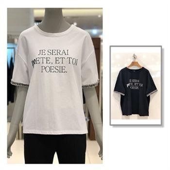 [테이트]여성 레터링 반팔 티셔츠(KA9U4-WKS130)