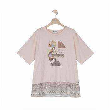 [써스데이아일랜드]믹스 그래픽 티셔츠(T194MTS250W)