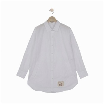 [써스데이아일랜드]타소재 화이트셔츠(T194MBL248W)
