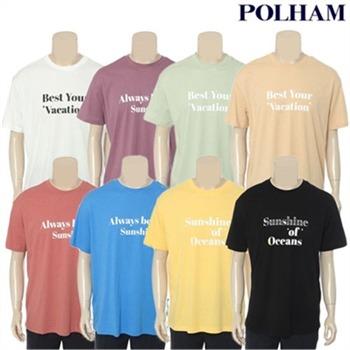 [폴햄] 공용 레터링 오버핏 반팔 티셔츠(PHZ2TR3880)