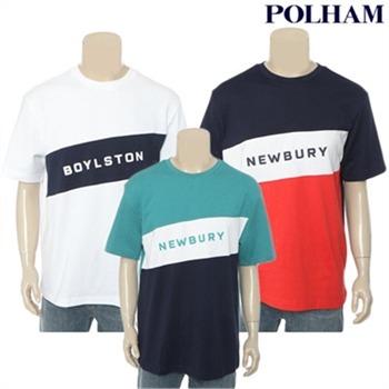 [폴햄] 공용 오버핏 블럭 그래픽 티셔츠(PHZ3TR3520)