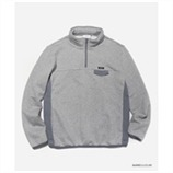 [커버낫] MIXED HALF ZIP-UP GRAY