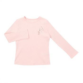 [프랜치캣]핑크 골지기본티셔츠 Q74DKT371P2