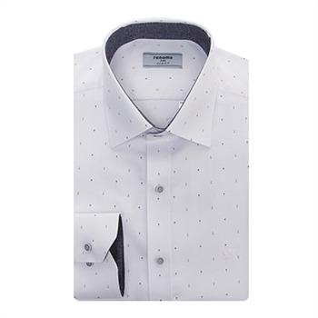 [레노마셔츠 ]슬림핏 긴소매 도트셔츠 RJFSL0-138 WH