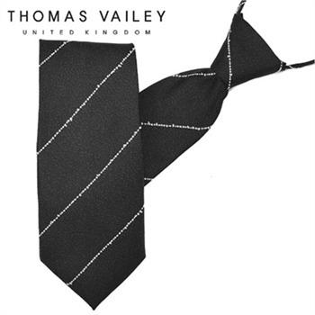 [THOMAS VAILEY] 토마스베일리 자동/지퍼넥타이-루트 블랙 7.5cm