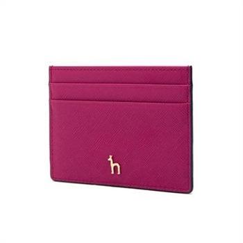 [헤지스ACC]핑크 퍼플 가죽 카드홀더(HIHO9F144P3)