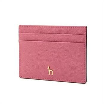 [헤지스ACC]핑크 가죽 심플 카드홀더(HIHO9F142P2)