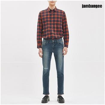 [jambangee]남성 라텍스 테이퍼드 데님(AJ3DTA23)