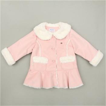 [압소바]여아 무스탕 코트  (핑크)