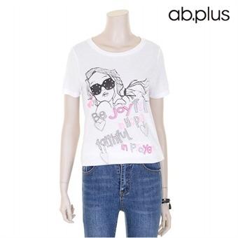 선글라스우먼 프린팅 티셔츠 (LSR2GK14A)