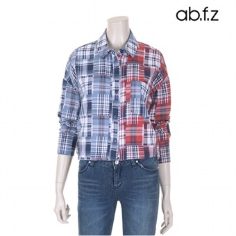 하프앤하프 체크 셔츠 (AFR4BB23A)