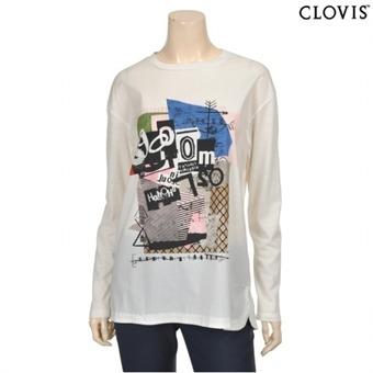 [클라비스] Y 모던 프린트 티셔츠-CVLW62204M_39