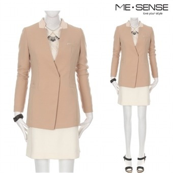 [미센스] Y 여성 이중배색 자켓-M54JKM105Z