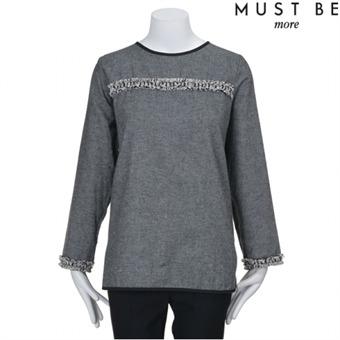 [머스트비] Y 자수테잎 블라우스 - MIWS501R00_GYA