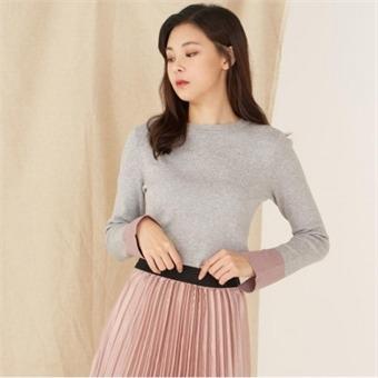 [로엠] WY 소매슬릿배색 슬림핏 스웨터 - RMKA74TR25_15