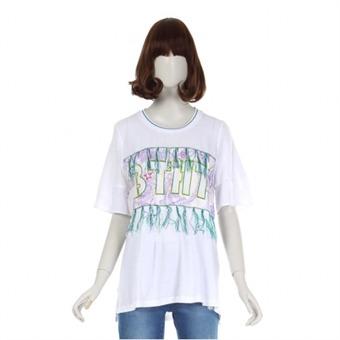 [BNX] Y 프린트수술 반팔 티셔츠 - BOBTS581F0_WH