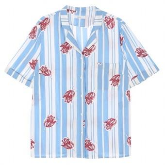 [로엠] WY 파자마 카라 린넨 셔츠 - RMYW737GQ1_50