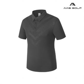 [아이아스] E 남성 심플라인 PK 티셔츠 - AIVSMTP352_GR