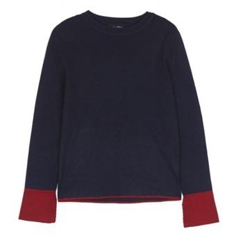 [로엠] WY 소매슬릿배색 슬림핏 스웨터 - RMKA74TR25_59