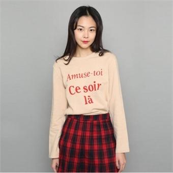 [로엠] WY 레터링 도톰 티셔츠 - RMLW74TGQ1_35