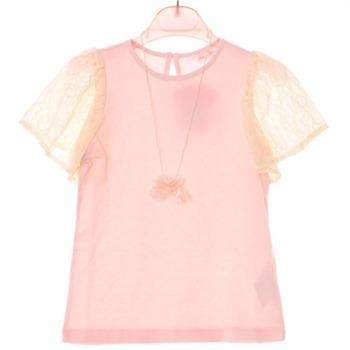 로엠걸즈 NC02 레이스소매 반팔 티셔츠 rgra72410c